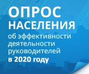Опрос населения об эффективности деятельности руководителей в 2020 году